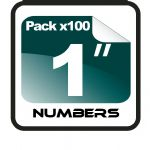 "1"" Race Numbers - 100 pack"